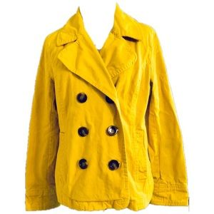 Old Navy Double Breasted Yellow Blazer/Jacket